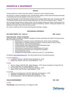 Power Plant Engineer Sle Resume by Plant Engineer Resume Template
