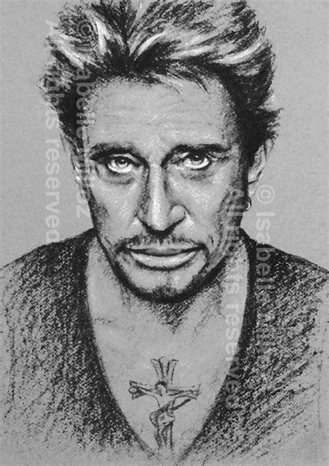 Johnny Hallyday portrait noir et blanc fichier imprimable
