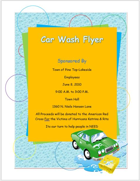 car wash template car wash flyer template microsoft word templates