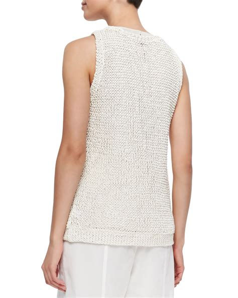Hm Fringe Knit Top lyst brunello cucinelli knit tank top with fringe