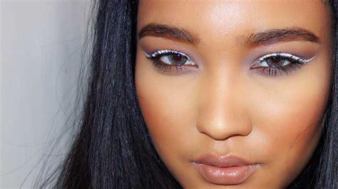 white eyeliner tutorial youtube white winged eyeliner tutorial youtube