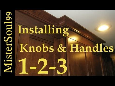 how to add knobs to kitchen cabinets how to install knobs and handles on cabinets youtube