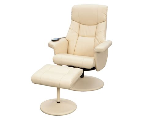 recliner swivel chair and stool jerry faux leather massage swivel chair and foot stool