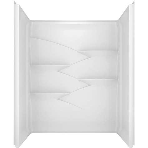 shop delta laurel high gloss white acrylic bathtub wall 1000 ideas about acrylic shower walls on pinterest