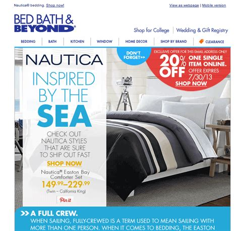 bed bath and beyond mailing list bed bath and beyond consumerist