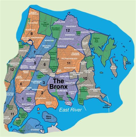 bronx map map of bronx neighborhoods