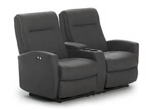 contemporary space saver power reclining loveseat with