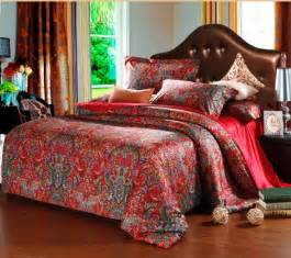 Red Paisley Duvet Cover Shop Popular Red Paisley Bedding From China Aliexpress