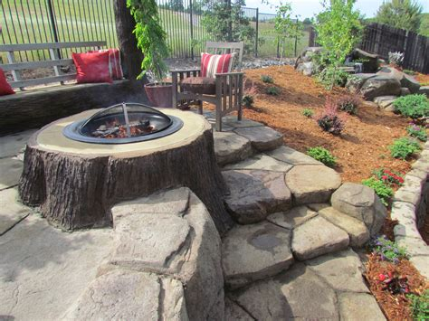 Outside Firepits Diy Outdoor Fireplace For Back Yard