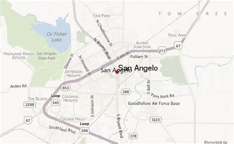 texas map san angelo san angelo location guide