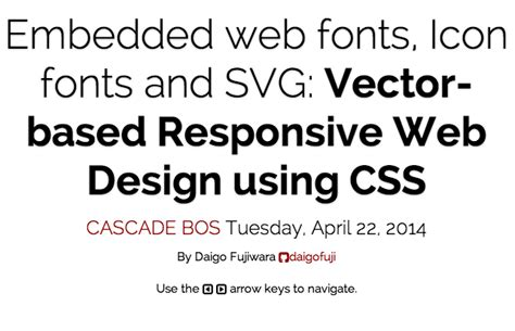font design using css embedded web fonts icon fonts and svg vector based