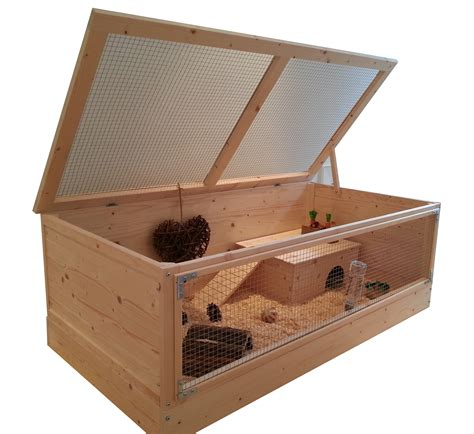 Small A Frame House by Super Large 120x60cm Natural Wood Guinea Pig Cage