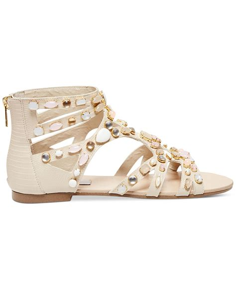 macys womens sandals steve madden s culver s embellished gladiator flat