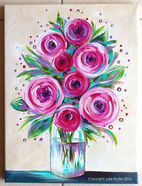 easy painting flower designs 40 easy acrylic canvas painting ideas for beginners