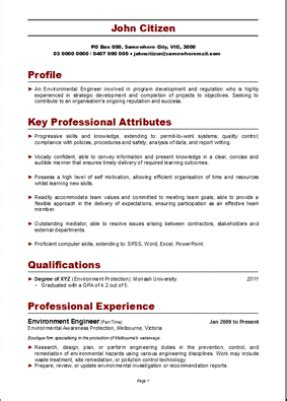 simple resume template au the australian resume writer