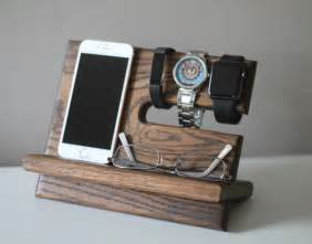 nightstand charger organizer night stand oak wood valet iphone galaxy charging stand