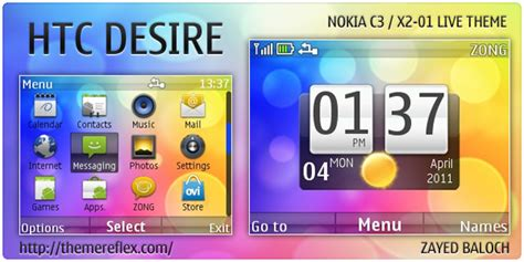 nokia c3 technology themes htc desire live theme for nokia c3 x2 01 themereflex