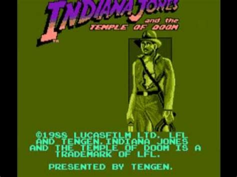 x themes songs from the unknown indiana jones and the temple of doom nes music unknown