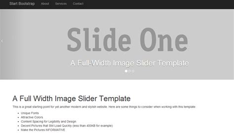 bootstrap slider template 30 eye catching website templates using bootstrap