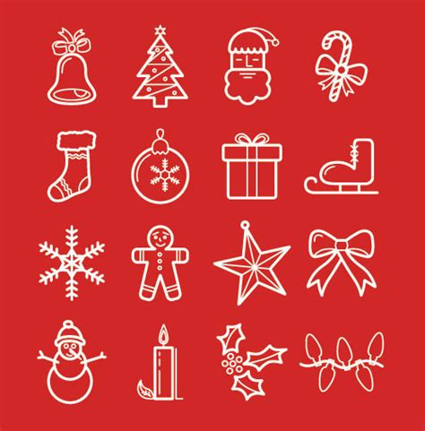 simple christmas icons images