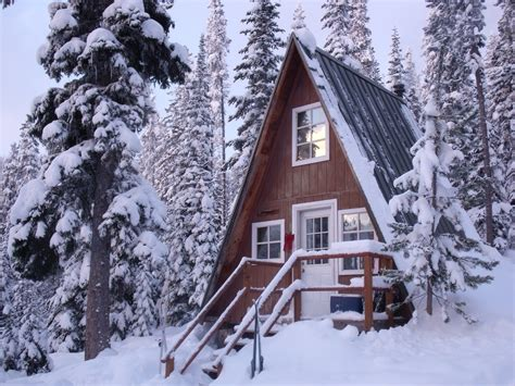 beautiful landscapes sketchymetal a frame cabin in the snow