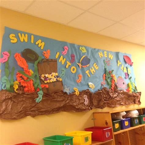 new year ideas for school quot swim into the new year quot bulletin board idea