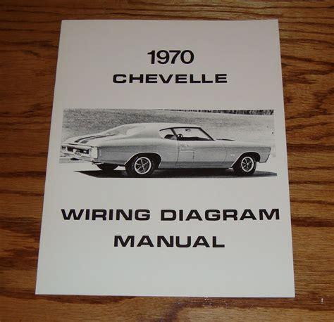 chevrolet chevelle wiring diagram manual  chevy ebay