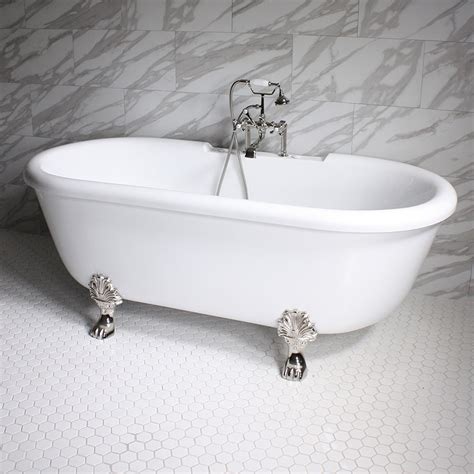 heated whirlpool bathtubs 75 quot heated air jetted double ended clawfoot tub