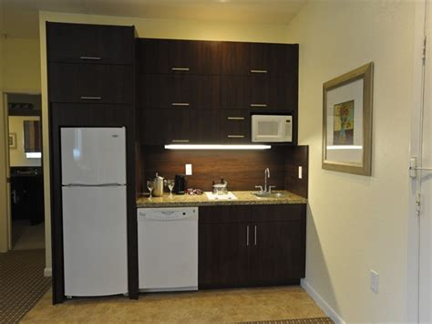 modern kitchen design for condo hotel room with