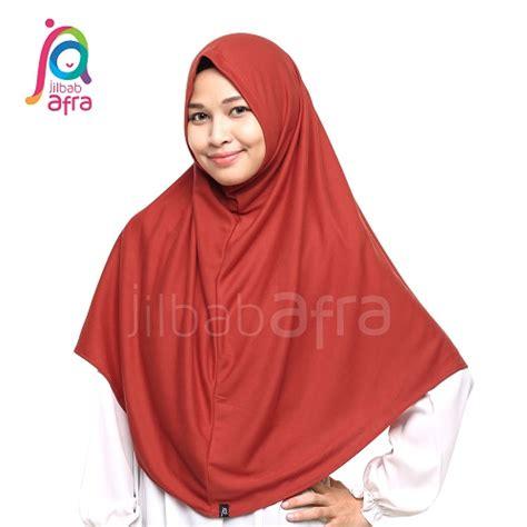 Jilbab Afra Model Pasha Ukuran L Khimar Kerudung Segiempat jilbabafra syifa merah bata jas 27 garasi salwa