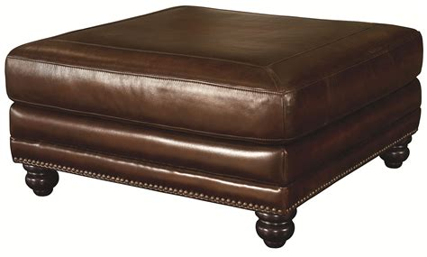 leather nailhead ottoman bassett hamilton 3959 00s leather cocktail ottoman with
