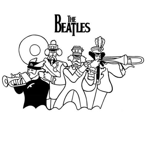 coloring pages yellow submarine the beatles john lennon calling his mate coloring pages