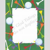 Golf Page Borders Golf tease stationery