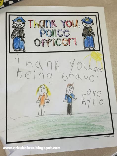 thank you card template for officers 25 best ideas about officer crafts on