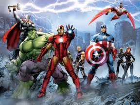 Wall mural wallpaper Marvel The Avengers Iron Man Hulk Thor photo 360