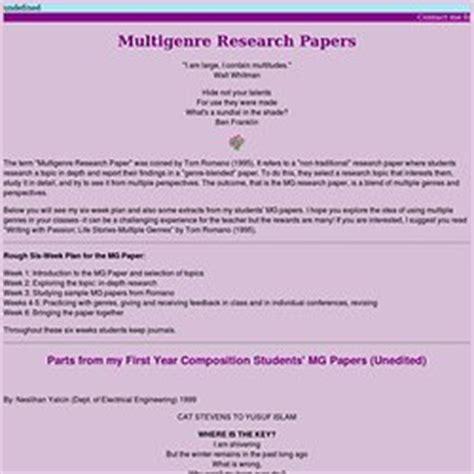 multigenre research paper multi genre research images frompo 1