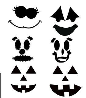cute jack o lantern stencils printable faces pumpkin faces and cuttings on pinterest