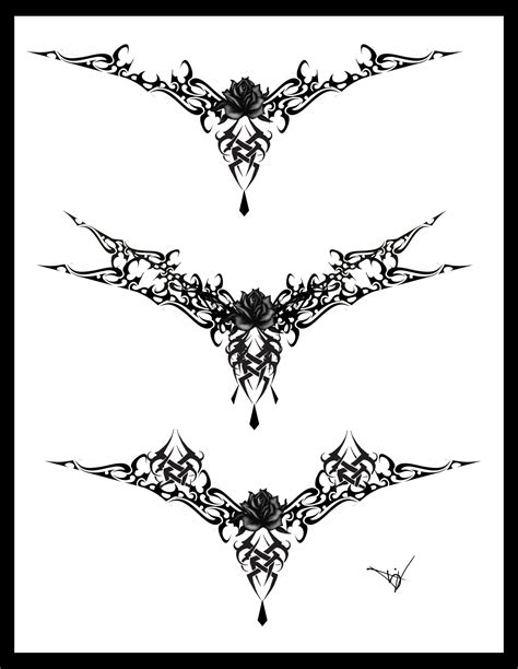 goth tattoo designs lace designs
