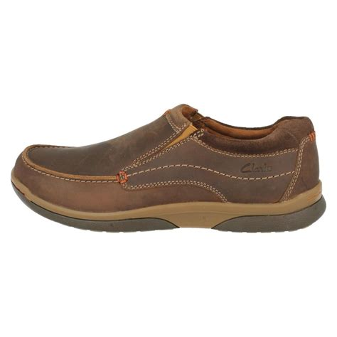 mens clarks casual slip on shoes randle free ebay