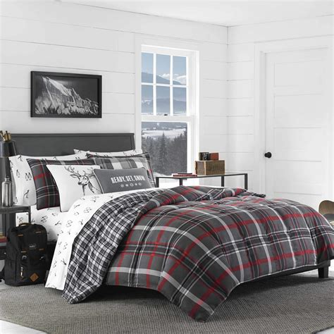 eddie bauer rugged plaid comforter set eddie bauer willow plaid comforter set ebay