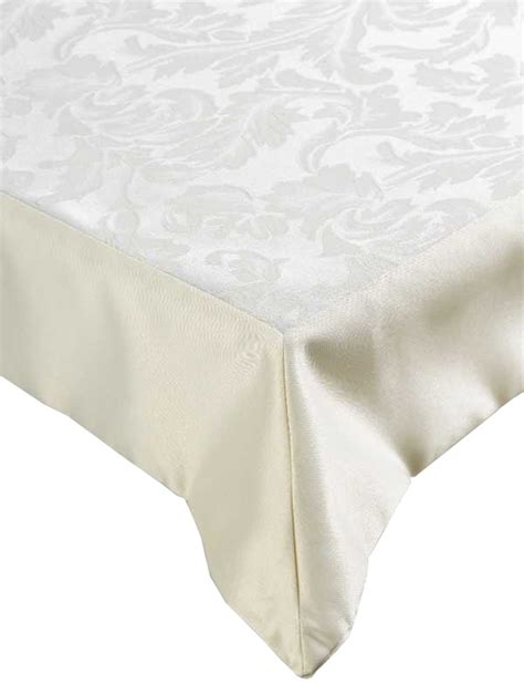 cream jacquard damask large tablecloth kitchen home cotton