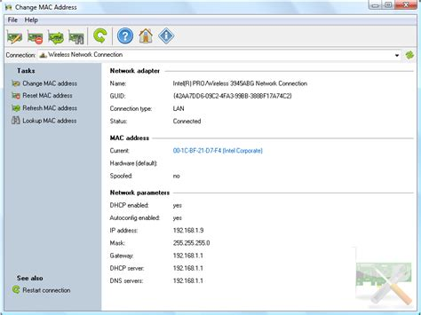 amac address change change mac address in windows 7 or later for wireless