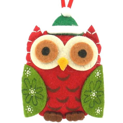 christmas felt owl owls for my little owl lover pinterest