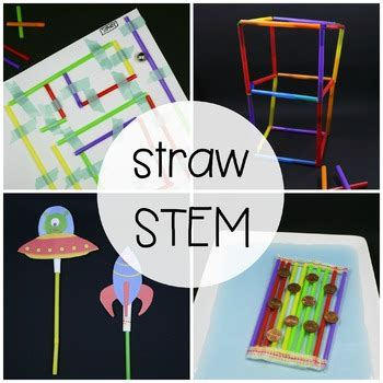 Stem Challenge Build With Straws By Playdough To Plato Tpt