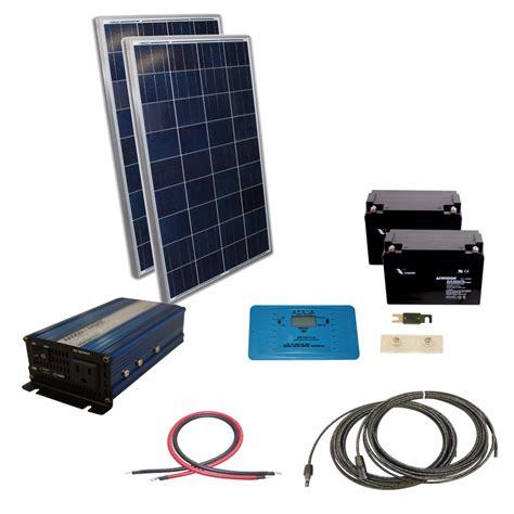 small solar panel kit 240 watt solar with 300 watt sine inverter 24 vdc kit