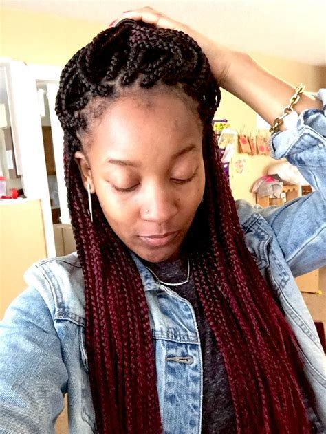 burgundy box braids 150 best images about ombre braids on pinterest