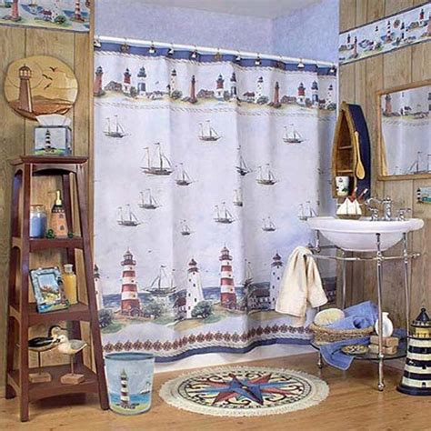 lighthouse themed bathroom ideas for nautical bathroom d 233 cor decozilla