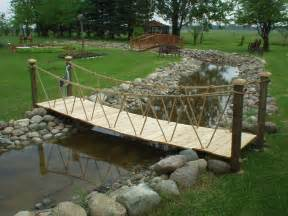 backyard bridge garden bridges 4 52ft wooden landscape