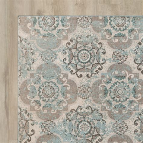 teal and grey area rug lark manor clotilde teal beige area rug reviews wayfair