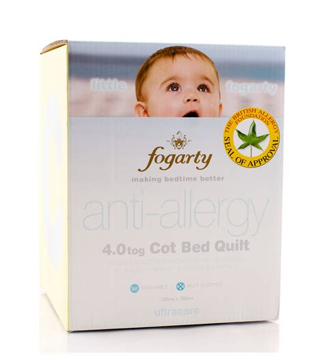 Fogarty Quilt by Fogarty Anti Allergy 4 0 Tog Cot Bed Quilt From
